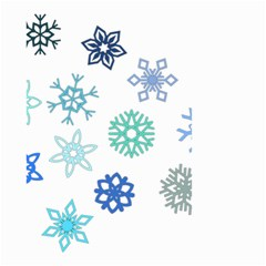 Snowflakes Blue Green Star Small Garden Flag (two Sides)