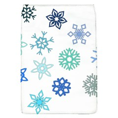 Snowflakes Blue Green Star Flap Covers (l)