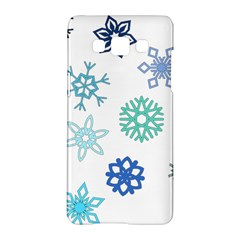 Snowflakes Blue Green Star Samsung Galaxy A5 Hardshell Case
