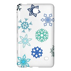 Snowflakes Blue Green Star Samsung Galaxy Tab 4 (7 ) Hardshell Case