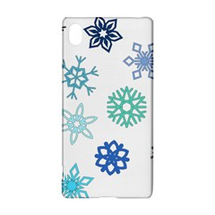 Snowflakes Blue Green Star Sony Xperia Z3+