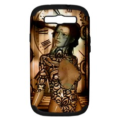 Steampunk, Steampunk Women With Clocks And Gears Samsung Galaxy S Iii Hardshell Case (pc+silicone)