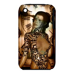 Steampunk, Steampunk Women With Clocks And Gears Iphone 3s/3gs