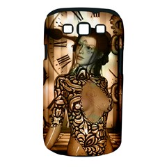 Steampunk, Steampunk Women With Clocks And Gears Samsung Galaxy S Iii Classic Hardshell Case (pc+silicone)