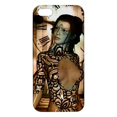 Steampunk, Steampunk Women With Clocks And Gears Apple Iphone 5 Premium Hardshell Case