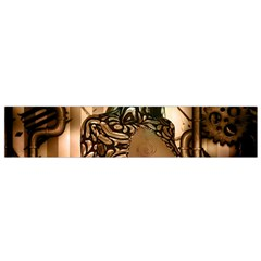 Steampunk, Steampunk Women With Clocks And Gears Flano Scarf (small)