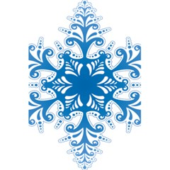 Snowflakes Blue Flower 5 5  X 8 5  Notebooks