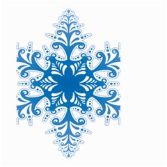 Snowflakes Blue Flower Small Garden Flag (two Sides)
