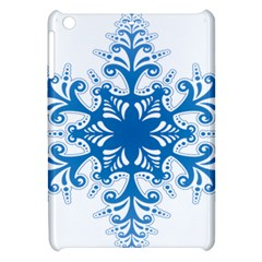 Snowflakes Blue Flower Apple Ipad Mini Hardshell Case