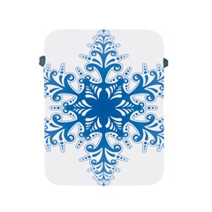 Snowflakes Blue Flower Apple Ipad 2/3/4 Protective Soft Cases