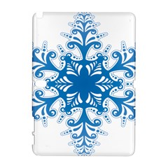 Snowflakes Blue Flower Galaxy Note 1