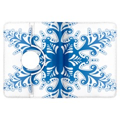 Snowflakes Blue Flower Kindle Fire Hdx Flip 360 Case