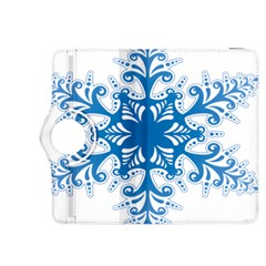 Snowflakes Blue Flower Kindle Fire Hdx 8 9  Flip 360 Case