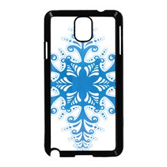 Snowflakes Blue Flower Samsung Galaxy Note 3 Neo Hardshell Case (black)
