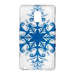 Snowflakes Blue Flower Galaxy Note Edge