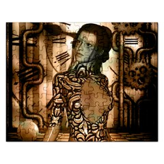 Steampunk, Steampunk Women With Clocks And Gears Rectangular Jigsaw Puzzl