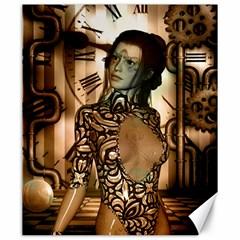 Steampunk, Steampunk Women With Clocks And Gears Canvas 20  X 24