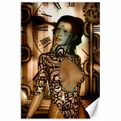Steampunk, Steampunk Women With Clocks And Gears Canvas 20  X 30