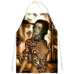 Steampunk, Steampunk Women With Clocks And Gears Full Print Aprons