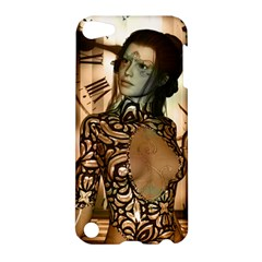 Steampunk, Steampunk Women With Clocks And Gears Apple Ipod Touch 5 Hardshell Case