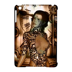 Steampunk, Steampunk Women With Clocks And Gears Apple Ipad Mini Hardshell Case (compatible With Smart Cover)