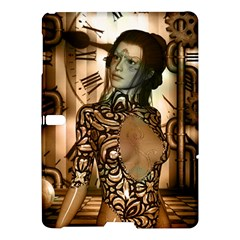 Steampunk, Steampunk Women With Clocks And Gears Samsung Galaxy Tab S (10 5 ) Hardshell Case