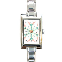 Snowflakes Heart Love Valentine Angle Pink Blue Sexy Rectangle Italian Charm Watch