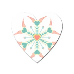Snowflakes Heart Love Valentine Angle Pink Blue Sexy Heart Magnet