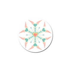 Snowflakes Heart Love Valentine Angle Pink Blue Sexy Golf Ball Marker (4 Pack)