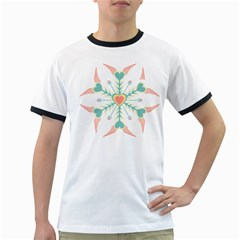 Snowflakes Heart Love Valentine Angle Pink Blue Sexy Ringer T Shirts