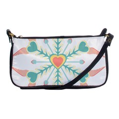 Snowflakes Heart Love Valentine Angle Pink Blue Sexy Shoulder Clutch Bags