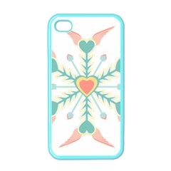 Snowflakes Heart Love Valentine Angle Pink Blue Sexy Apple Iphone 4 Case (color)