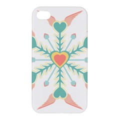 Snowflakes Heart Love Valentine Angle Pink Blue Sexy Apple Iphone 4/4s Hardshell Case
