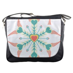 Snowflakes Heart Love Valentine Angle Pink Blue Sexy Messenger Bags