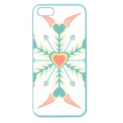 Snowflakes Heart Love Valentine Angle Pink Blue Sexy Apple Seamless Iphone 5 Case (color)