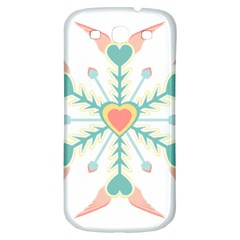Snowflakes Heart Love Valentine Angle Pink Blue Sexy Samsung Galaxy S3 S Iii Classic Hardshell Back Case