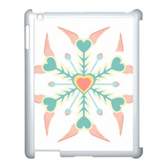 Snowflakes Heart Love Valentine Angle Pink Blue Sexy Apple Ipad 3/4 Case (white)