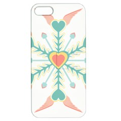 Snowflakes Heart Love Valentine Angle Pink Blue Sexy Apple Iphone 5 Hardshell Case With Stand
