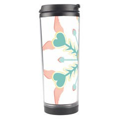 Snowflakes Heart Love Valentine Angle Pink Blue Sexy Travel Tumbler