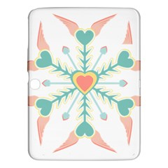 Snowflakes Heart Love Valentine Angle Pink Blue Sexy Samsung Galaxy Tab 3 (10 1 ) P5200 Hardshell Case