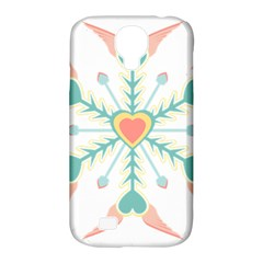 Snowflakes Heart Love Valentine Angle Pink Blue Sexy Samsung Galaxy S4 Classic Hardshell Case (pc+silicone)