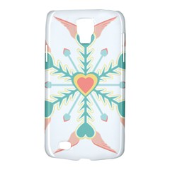 Snowflakes Heart Love Valentine Angle Pink Blue Sexy Galaxy S4 Active