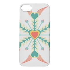 Snowflakes Heart Love Valentine Angle Pink Blue Sexy Apple Iphone 5s/ Se Hardshell Case