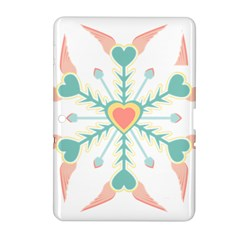 Snowflakes Heart Love Valentine Angle Pink Blue Sexy Samsung Galaxy Tab 2 (10 1 ) P5100 Hardshell Case