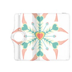 Snowflakes Heart Love Valentine Angle Pink Blue Sexy Kindle Fire Hdx 8 9  Flip 360 Case