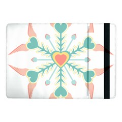 Snowflakes Heart Love Valentine Angle Pink Blue Sexy Samsung Galaxy Tab Pro 10 1  Flip Case