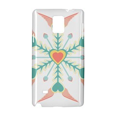 Snowflakes Heart Love Valentine Angle Pink Blue Sexy Samsung Galaxy Note 4 Hardshell Case