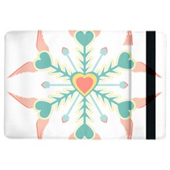 Snowflakes Heart Love Valentine Angle Pink Blue Sexy Ipad Air 2 Flip