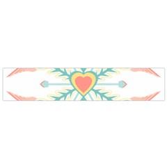 Snowflakes Heart Love Valentine Angle Pink Blue Sexy Flano Scarf (small)