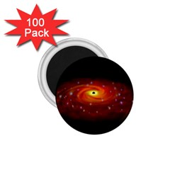 Space Galaxy Black Sun 1 75  Magnets (100 Pack)